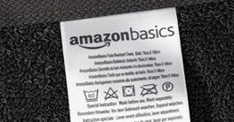 Amazon Basics AB Fade Resitant, 100% Baumwolle, Schwarz, 2 Bath & 4 Hand - 7