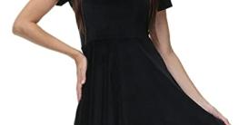 BesserBay Damen Halloween Kleid Costume Kurzarm Skaterkleid Schwarz - 2