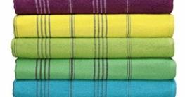 Betz Badetuch XXL Strandtuch Lines 100% Baumwolle Größe 90 x 180 cm Farbe Fuchsia - 4