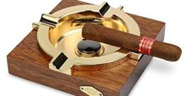 Großer Zigarrenaschenbecher Aschenbecher männer Hölzerner Hölzerner Zigarrenaschenbecher für Zigaretten weed für Zigaretten für Zigaretten für Zigaretten für Patio, Deck -groß,Wood - 2
