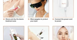 Haarentfernung Laser, ZumYu Schmerzloses IPL Geräte Haarentfernung für Langanhaltend Glatte Haut, Laser Haarentfernung mit 999,999 Blitzen, IPL Haarentfernungsgerät für KöRper, Gesicht, Bikini-Zone - 7
