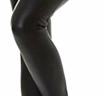 Jela London Damen Schwarze Kunst-Leder Hose Wetlook Leggings Treggings Schnürung High-Waist Hoher Bund Clubwear, 34 36 (S) - 3