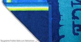 jilda-tex Strandtuch 90x180 cm Badetuch Strandlaken Handtuch 100% Baumwolle Velours Frottier Pflegeleicht (Chill) - 4