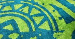 jilda-tex Strandtuch 90x180 cm Badetuch Strandlaken Handtuch 100% Baumwolle Velours Frottier Pflegeleicht (Gecko) - 3