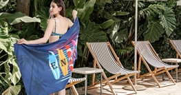 Jmqys Mikrofaser Strandtuch Handtücher Schnelltrocknend-Ultra Leicht Sandfreies Damen Mädchen Tragbares XXL Campinghandtuch Badehandtuch -Perfekt für Fitness Reisen Sport Wandern Outdoor Sauna Yoga - 2