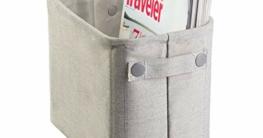 mDesign Toilettenpapierhalter (klein) aus Baumwolle – auch als Aufbewahrungskorb für Handtücher und Zeitungen – elegante Toilettenpapier-Aufbewahrung – hellgrau - 6