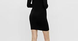 Object Damen OBJTHESS L/S Knit Dress NOOS Kleid, Schwarz, S - 4