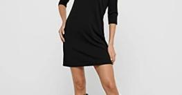 ONLY NOS Damen Kleid Onlbrilliant 3/4 Dress Jrs Noos, Schwarz (Black), 40 (Herstellergröße: L) - 6