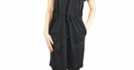VERO MODA Damen Vmapril Ss Short Dress Ga Noos Kleid, Schwarz (Black Black), L - 1